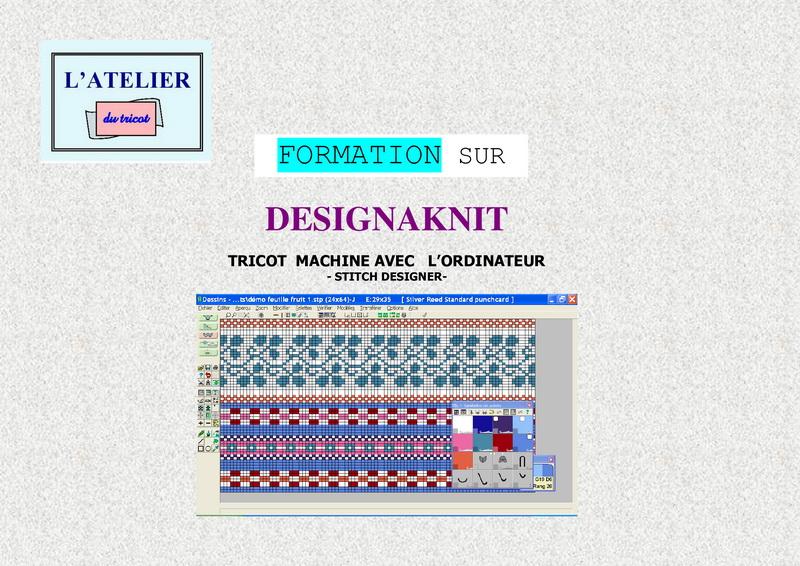 Formation sur Designaknit - Dessin de mailles